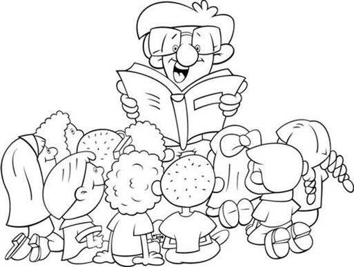 El Rincon De La Biblioteca Dibujos Para Decorar School Library Fictional Characters Cartoon