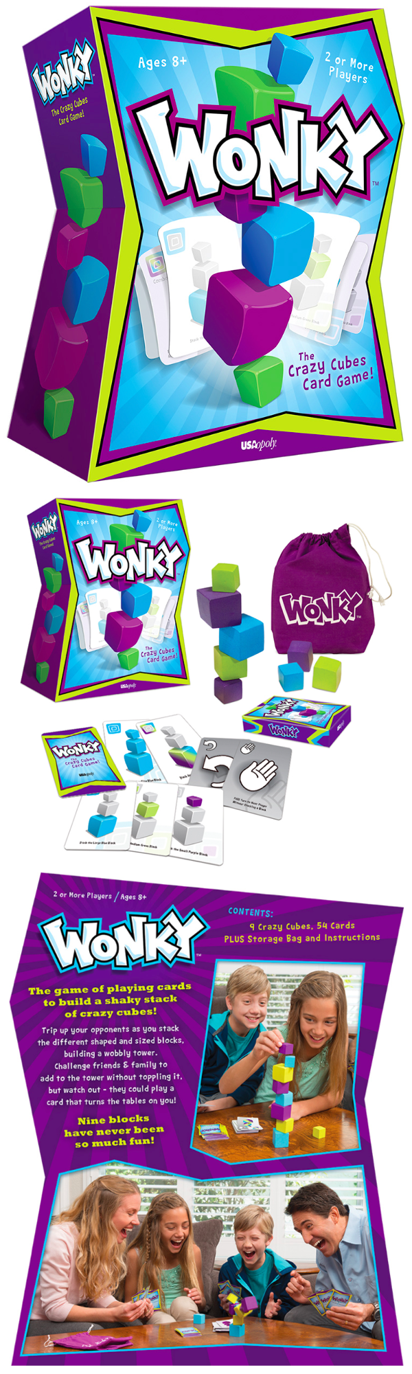 Wonky® The Unstable Adult Party Game Card games, Adult