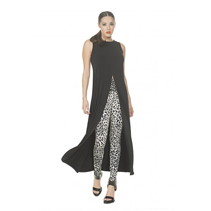 Cut In Front Slit Duster Tunic-Maxi - Eva Varro Women's Clothing and Apparel #maxidress