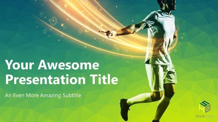 Soccer Modern Powerpoint Template Green Version Sports