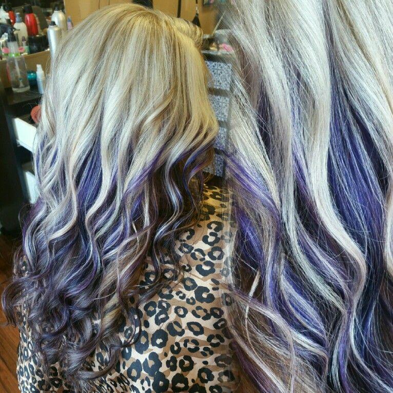 Platinum With Purple Peekaboo Hair Color On Ig By A5hley07 Purple Peekaboo Hair Peekaboo Hair Peekaboo Hair Colors
