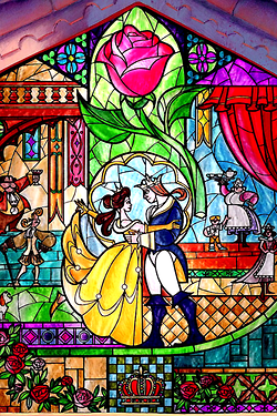 I Love Beauty And The Beast It S Such A Sweet And Dark Movie Disney Stained Glass Disney Art Disney Wallpaper