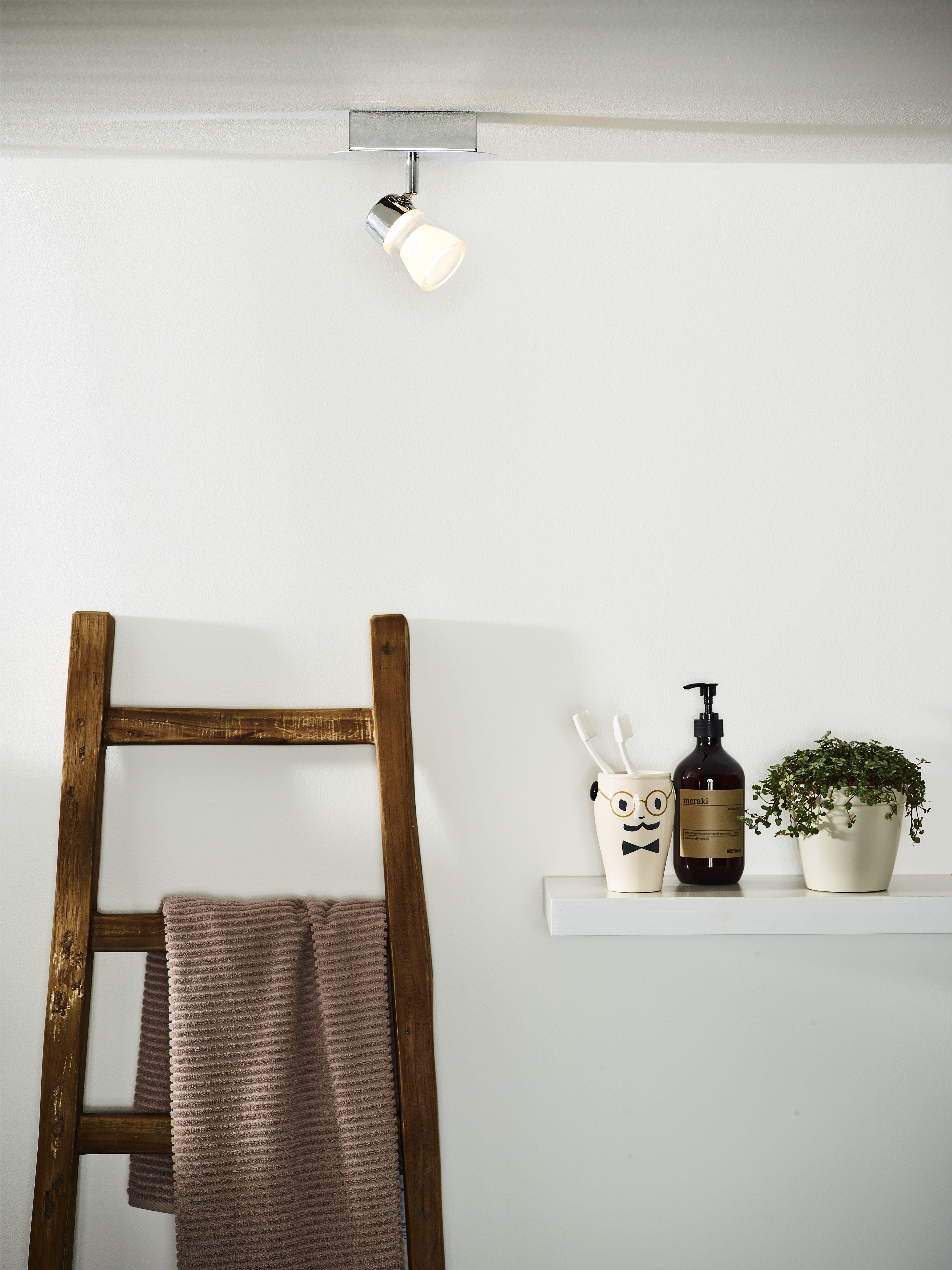 Lucide Xanto Led Ceiling Spotlight Bathroom Led 1x5w 3000k Ip21 Chrome Ceiling Spotlights Led Ceiling Ladder Decor