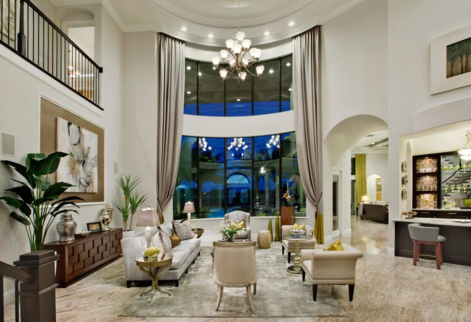outstanding living room high ceiling | Toll Brothers - Living Room....WOW WHAT A VIEW!!!! 'Cherie ...