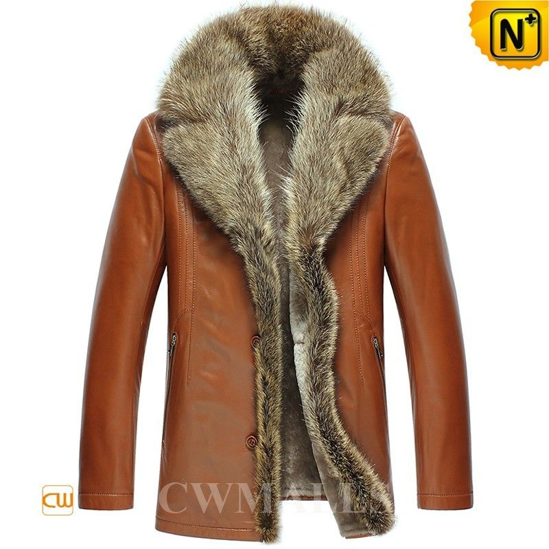 CWMALLS® Mens 2in1 Fur Trimmed Jacket CW857365 | Mens Fur Coats ...
