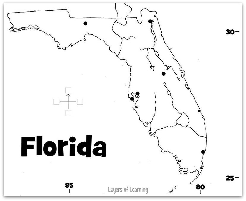 printable florida map to color