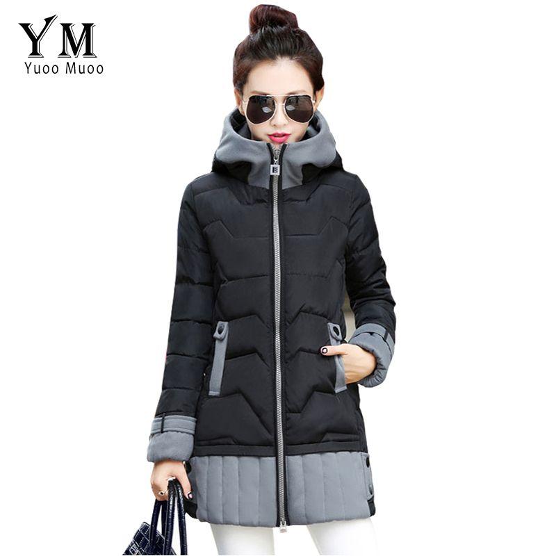 Yuoomuoo Parkas Women Winter Jacket Korean Fashion Long Trick Female Warm Down Jacket Ladies Plus Size Park Zimnie Kurtki Zimnie Palto Dlya Zhenshin Parka Palto