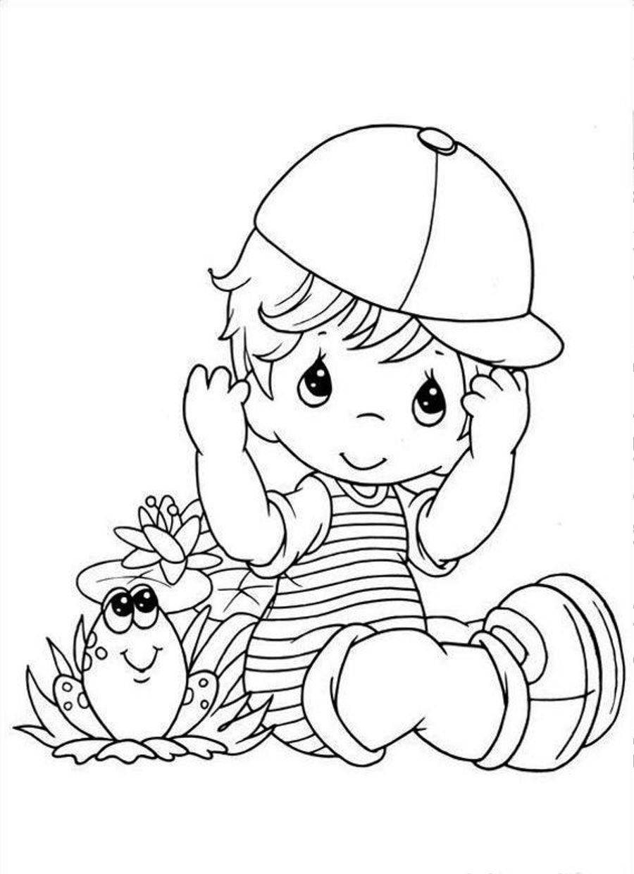 Boys coloring book pages ~ baby boy coloring page 09 | Precious moments coloring ...