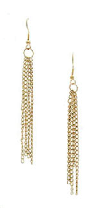 Gold Waterfalls Earrings www.verdepiedra.com