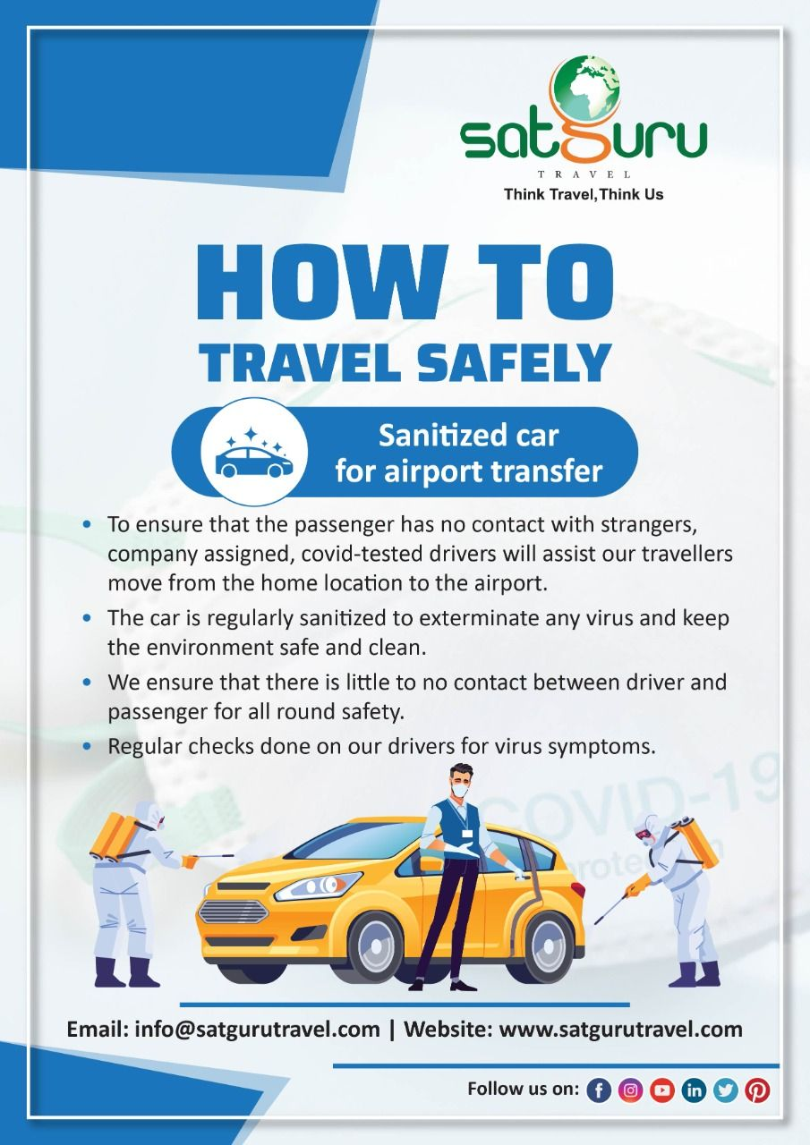 Sanitized Car For Airport Transfer Airport Transfers Safe Travel Passenger