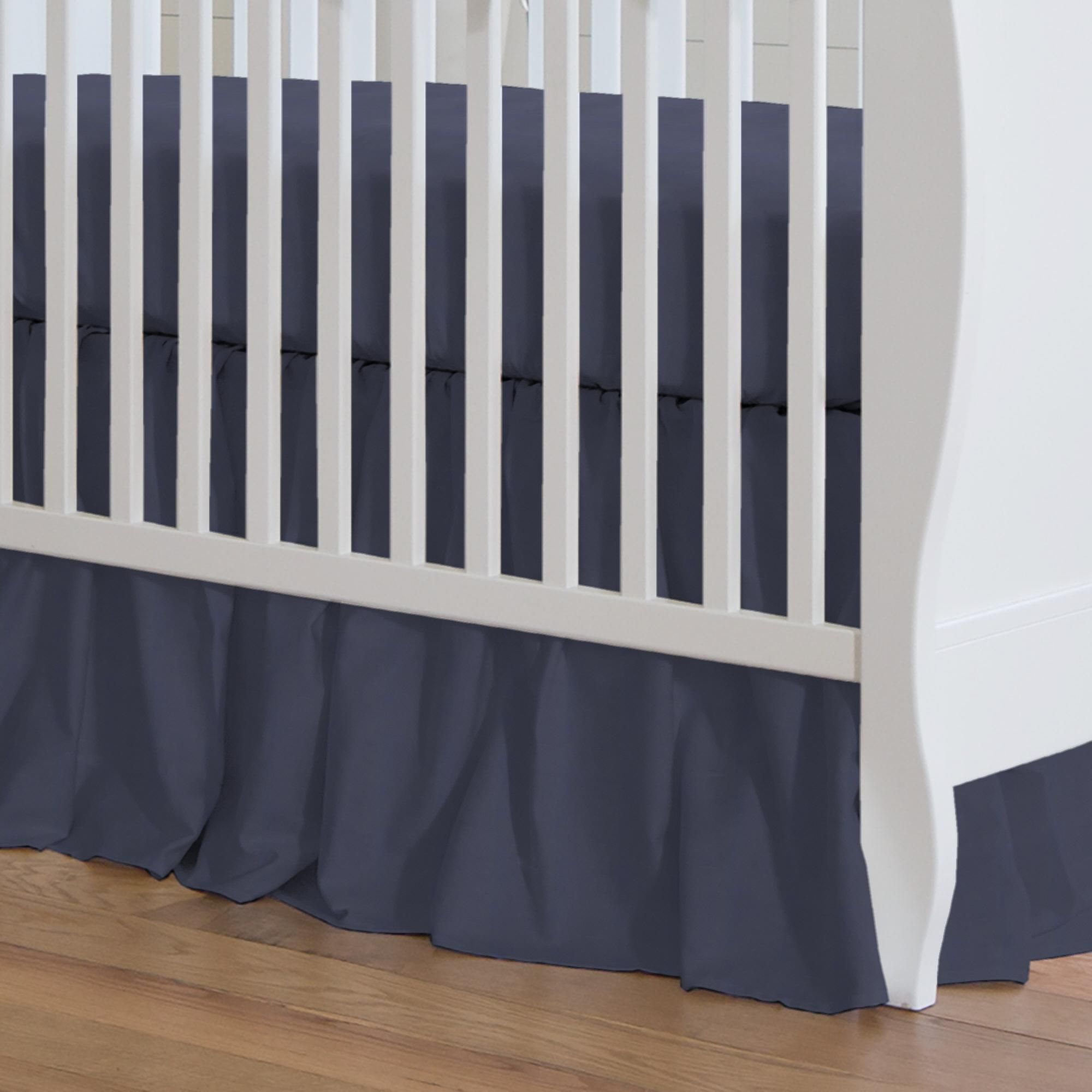 deal get this ivory on amazing crib skirt shopping lhuillier textured monique shop