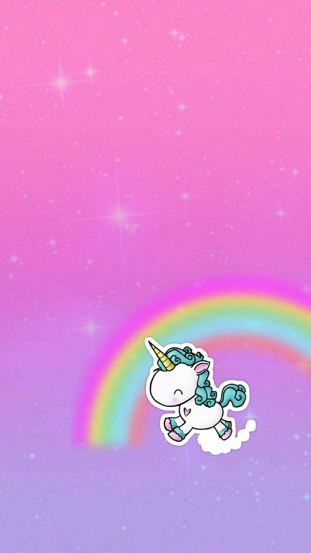 Galaxy Rainbow Unicorns Made By Me Purple Sparkly Wallpapers