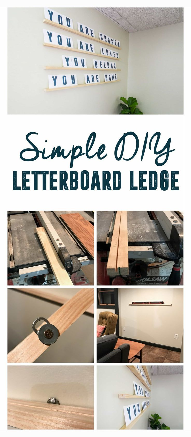 4 Simple Diy Letterboard Ledge Diy Letter Board Diy Letters Easy Diy