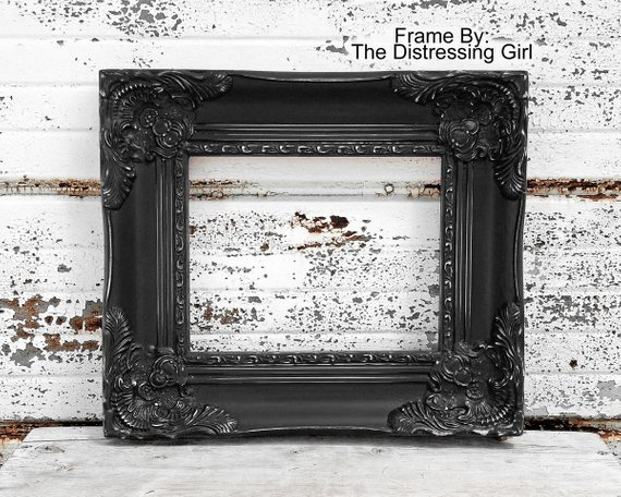 d0e7a7793c3 Ornate Black 8x10 Frame 8 x 10 Chunky Thick Elaborate Picture Frame Large  Antique Style Shabby Chic