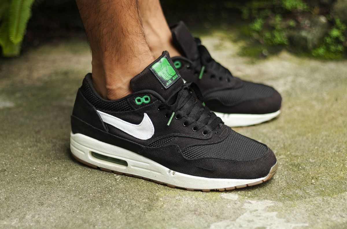 NIke Air Max 1 Patta Lucky Green Sneakers Pinterest