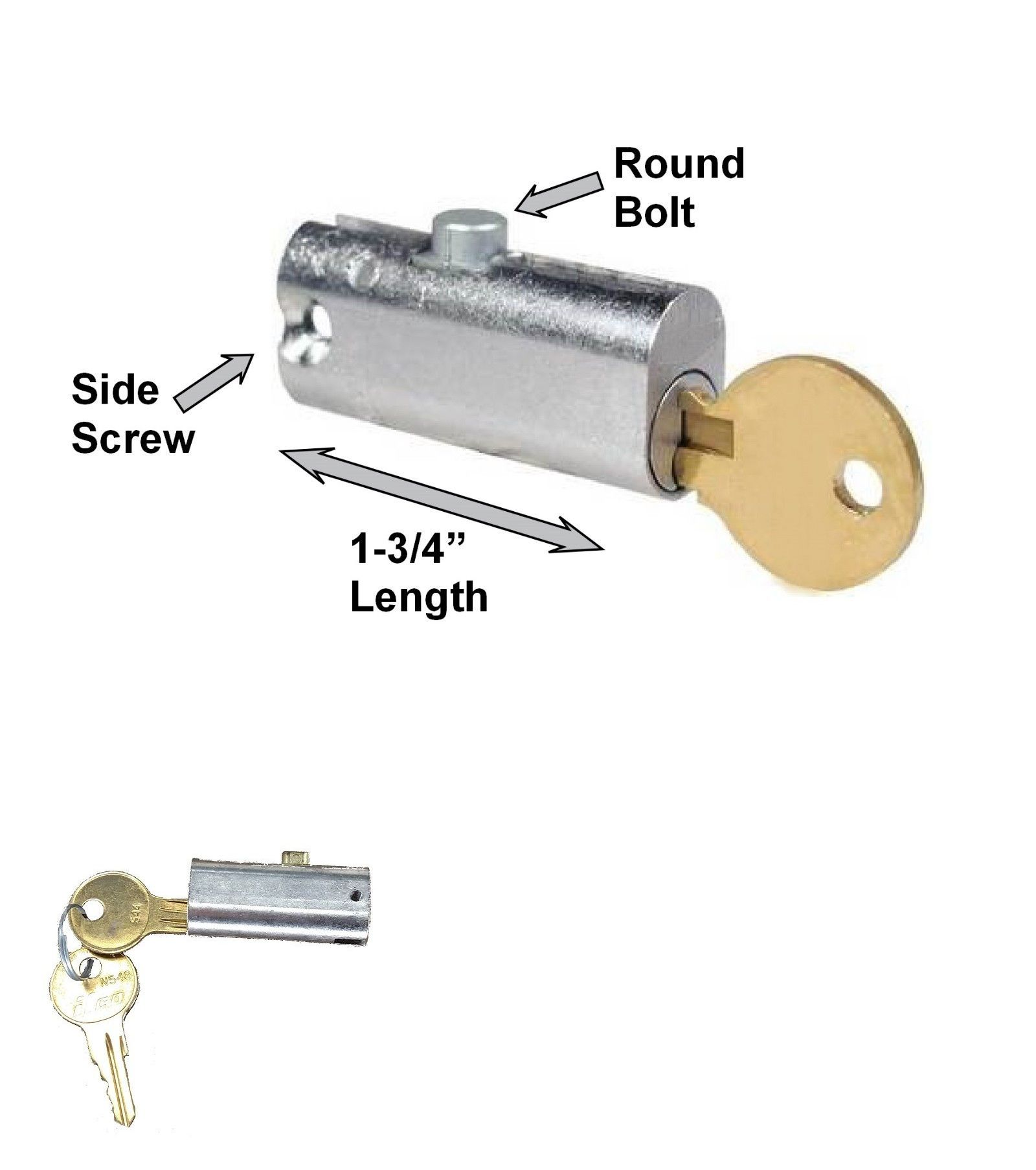 Diecast Stainless St Prime-Line Products U 9941 Drawer /& Cabinet Lock 5//8 in.