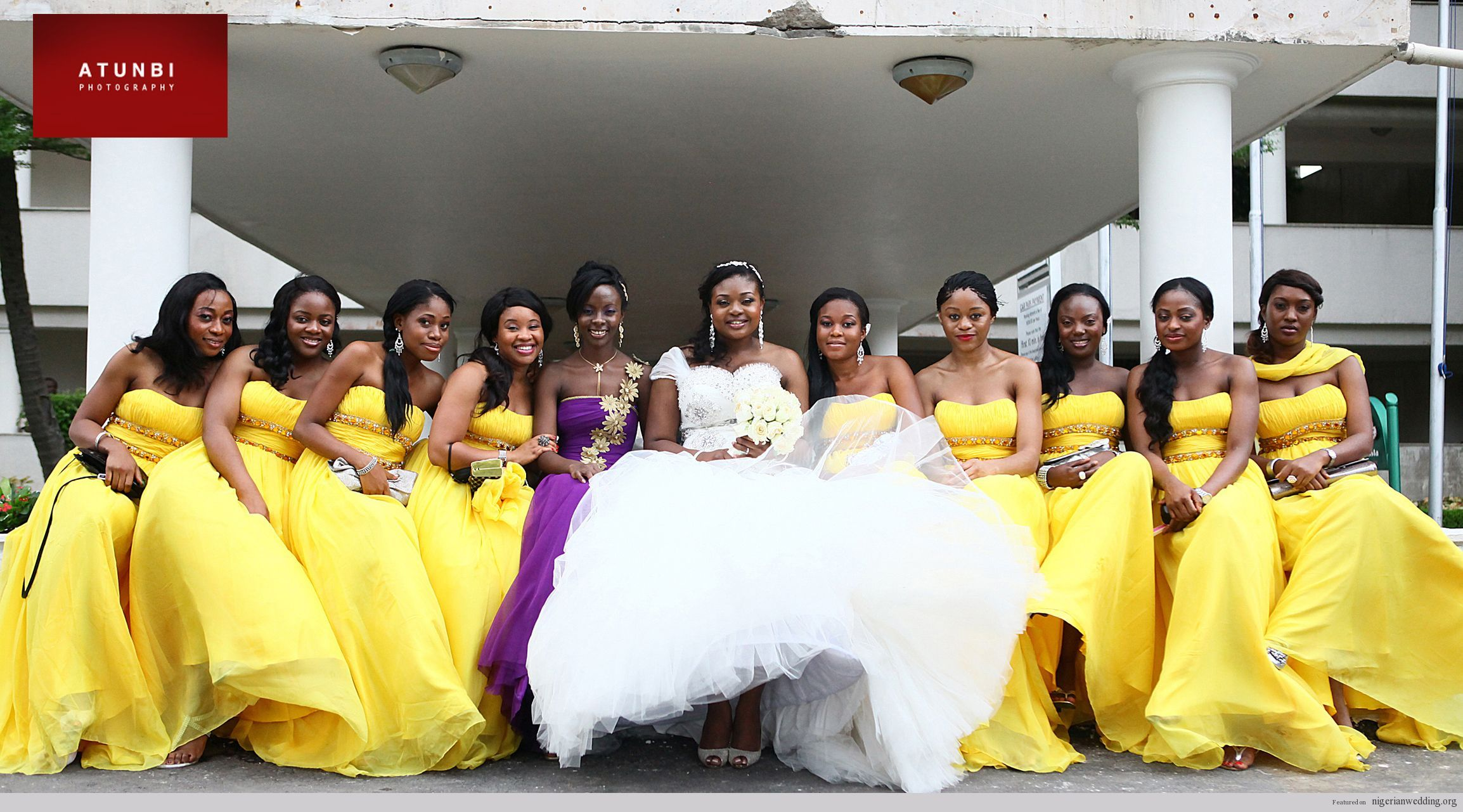 Bridesmaids in grey with yellow accessories perfect i wouldnt bridesmaids in grey with yellow accessories perfect i wouldnt have chosen brown shoes for the groomsmen though perhaps grey or black shoes ombrellifo Choice Image