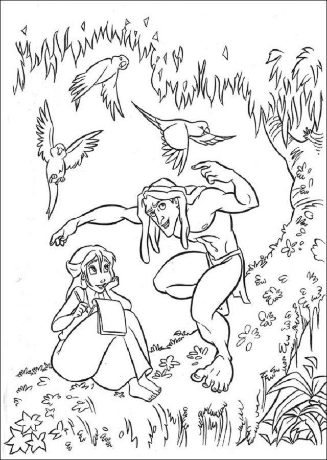 Pin de dibujosparacolorear en Dibujos para colorear Tarzan ...