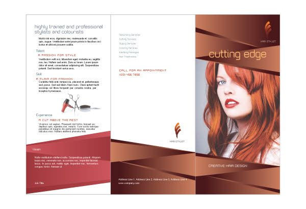 Hair Stylist  Salon Print Template Pack  Brochure