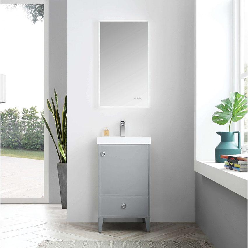 Blossom Lyon 20 Inch Small Bathroom Vanity Color Metal Grey