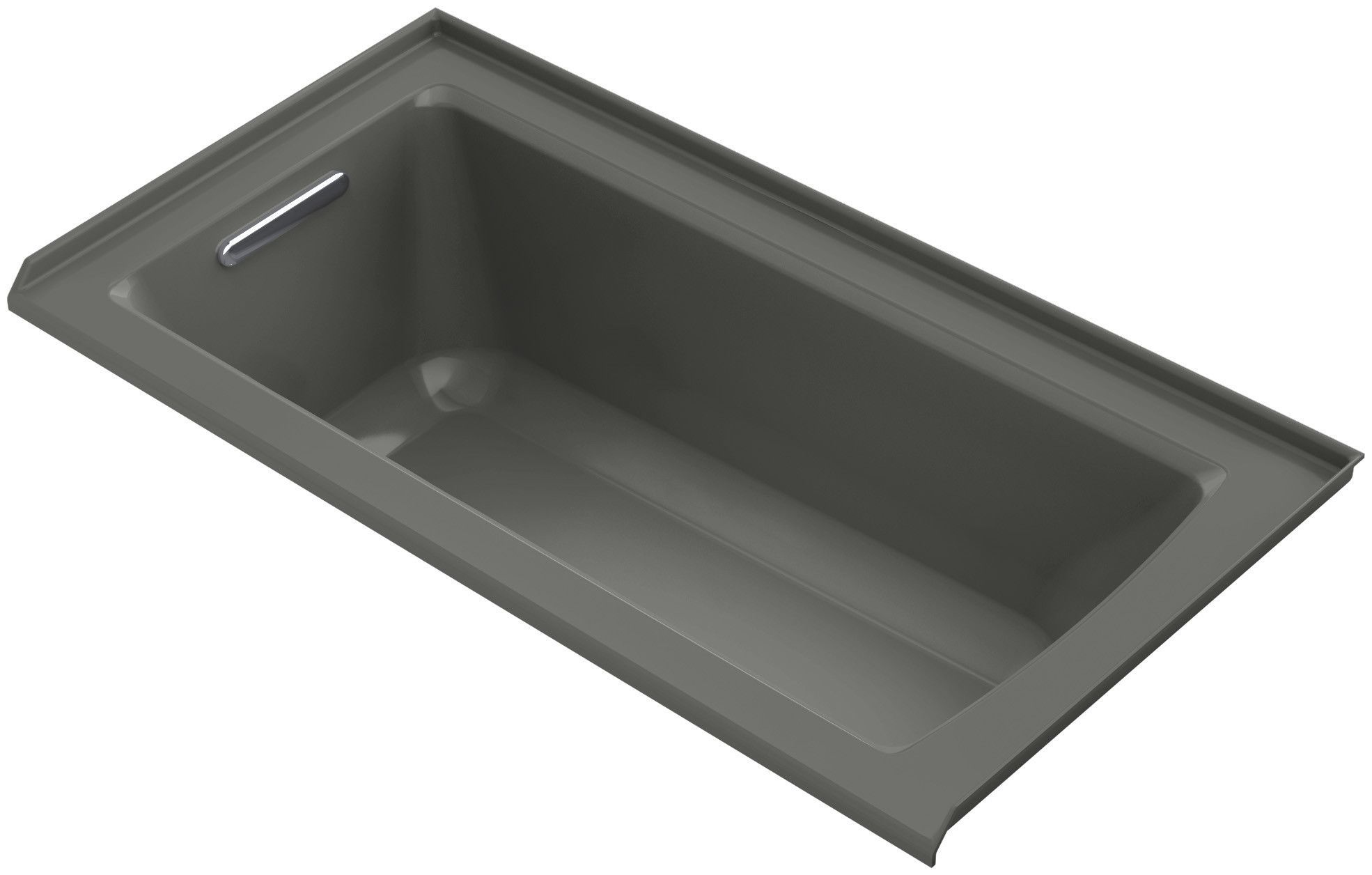 Archer Alcove Bath with Bask™ Heated Surface, Tile Flange and Left-Hand Drain