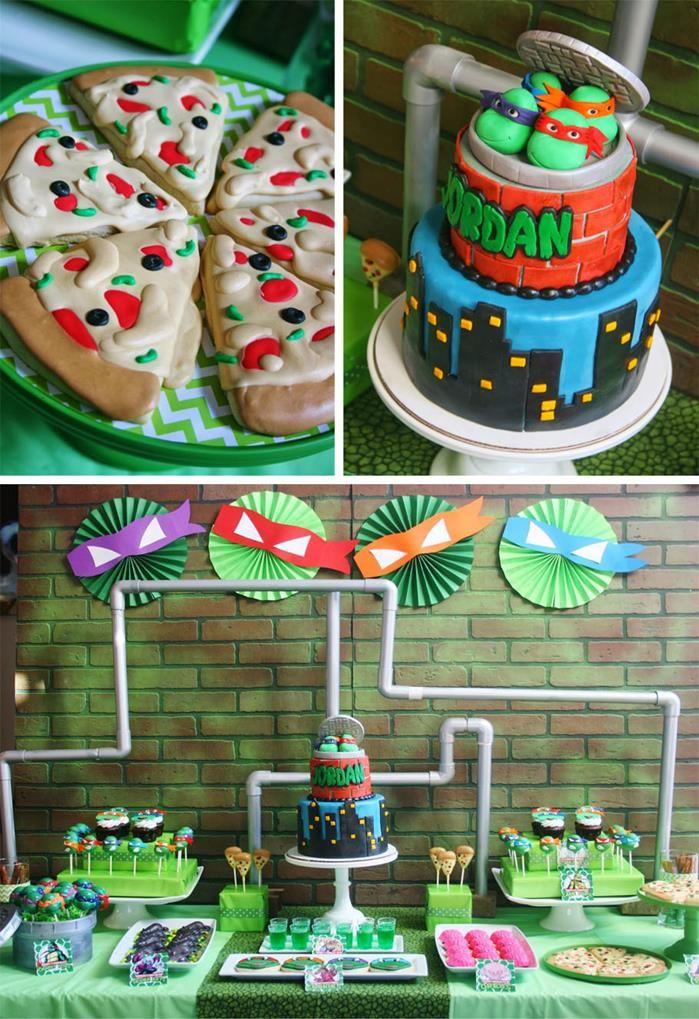 Teenage Mutant Ninja Turtles Party Planning Ideas Supplies Idea Cake Ninja Turtles Birthday Party Turtle Birthday Parties Mutant Ninja Turtles Party