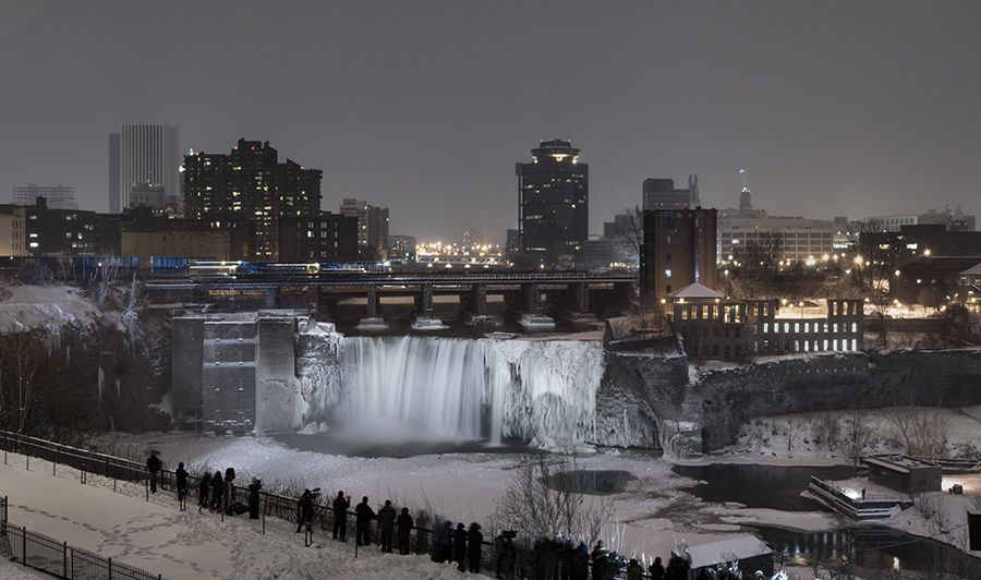 downtown rochester with a view of high falls my hometown