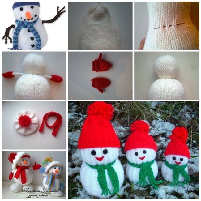 Wonderful DIY Jolly Knitted Snowmen With Free Patterns ...