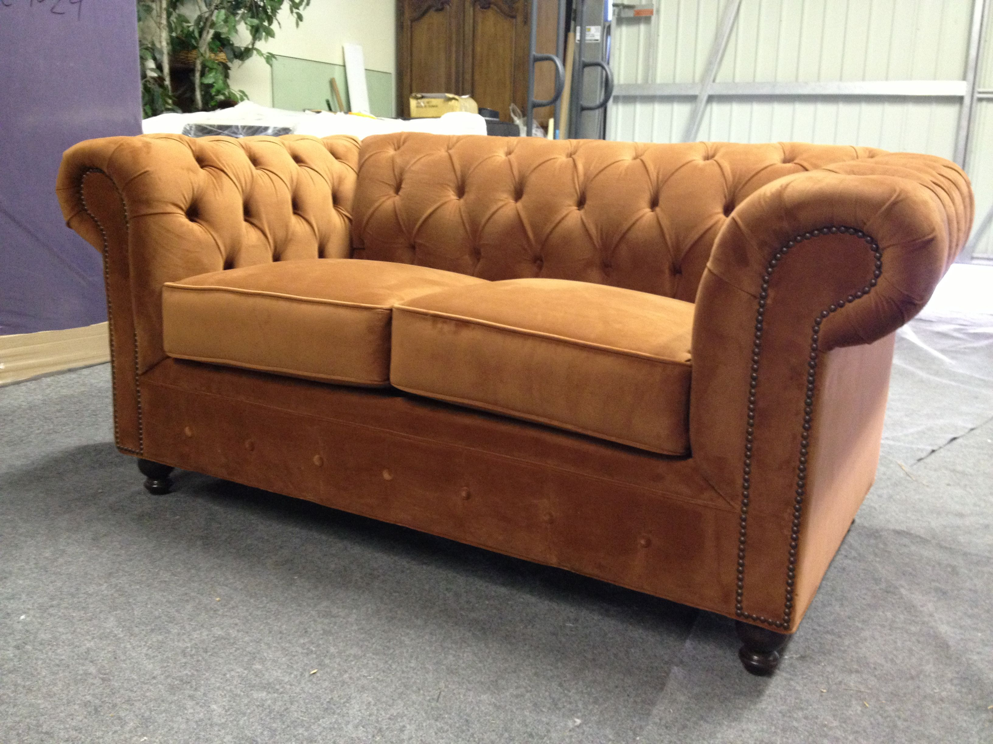 Custom Chesterfield Sofa Or Sectional Leather Fabric Ships Nationwide