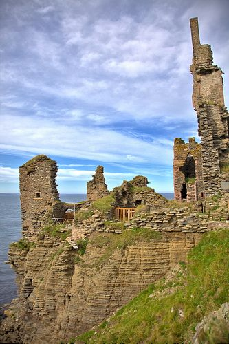 Sinclair Castle, Wick Scotland castles, Castle pictures