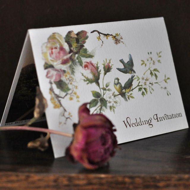 Finde Diesen Pin Und Vieles Mehr Auf DIY Einladungskarten Hochzeit Von  Brautrezepte. Blumen Vintage Hochzeitskarte Rosen Einladung