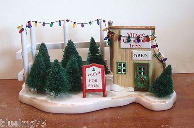 Dept 56 Snow Village Tree Lot Accessory 51381 Y126 155 Christmas Village Accessories Dept 56 Snow Village Christmas Village Display