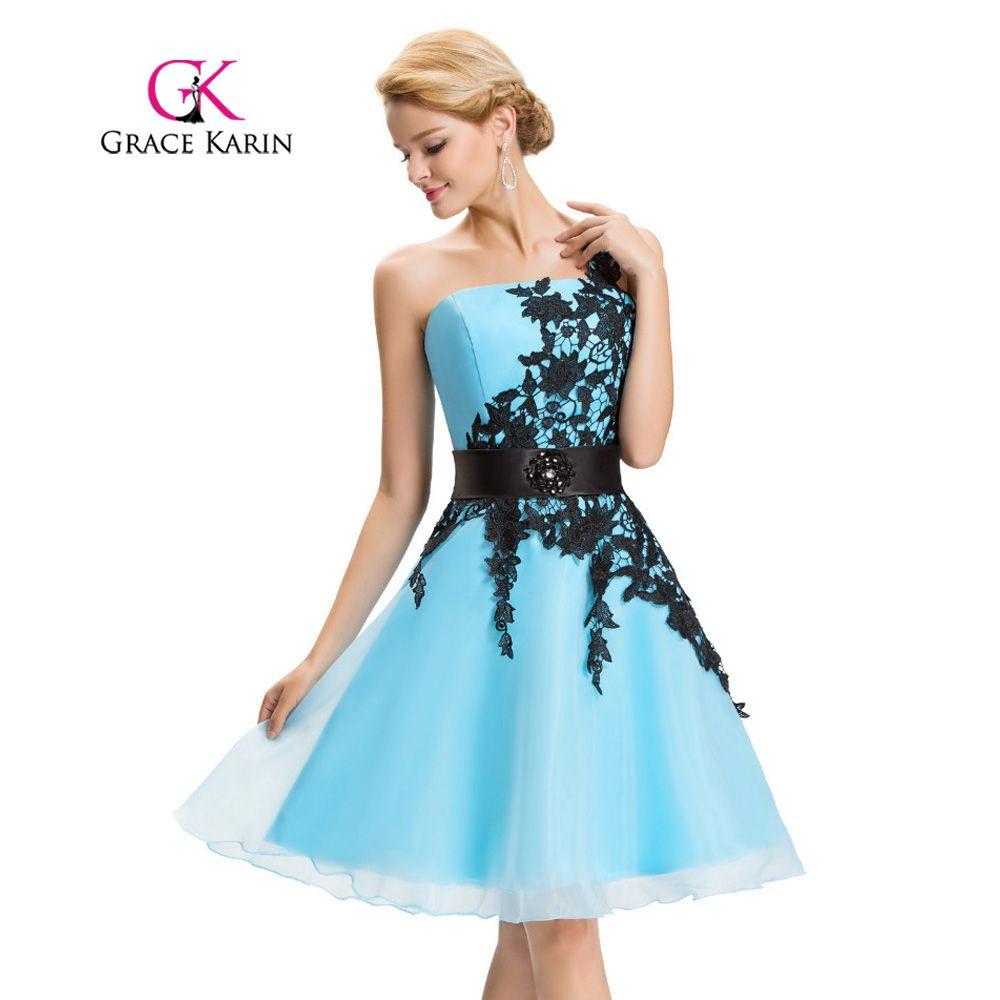 Grace Karin Sexy One Shoulder Lace Short Prom Dress 2017 Robe De ...