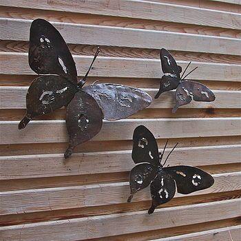 Gentil Metal Butterfly Garden Wall Art