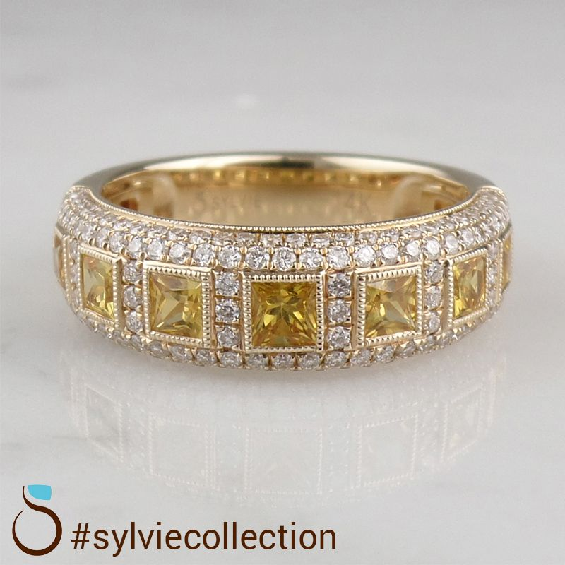Customize Your Ring With Sylvie Beautiful Jewelry Color Stones Jewelry Diamond Fashion