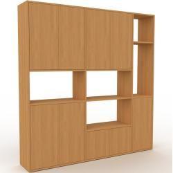 Photo of Wohnwand Eiche – Individuelle Designer-Regalwand: Türen in Eiche – Hochwertige Materialien – 190 x 1