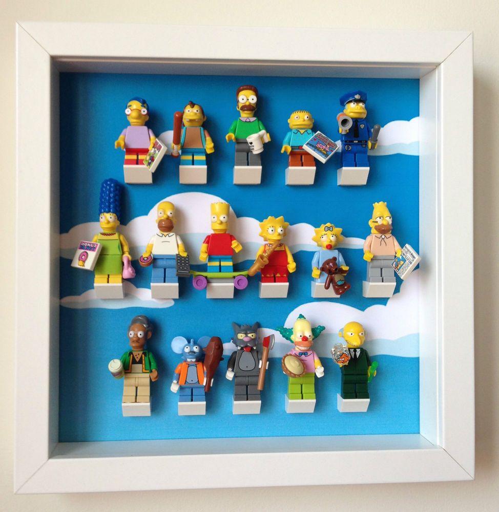 Lego Mini Figures Display Case Frame Noir Sur Noir Brique