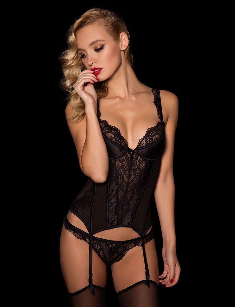 Sexy black satin quality lingerie