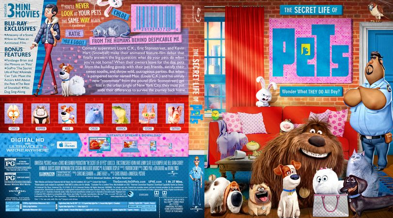 The Secret Life Of Pets Blu Ray Custom Cover Custom Dvd Secret Life Of Pets Secret Life