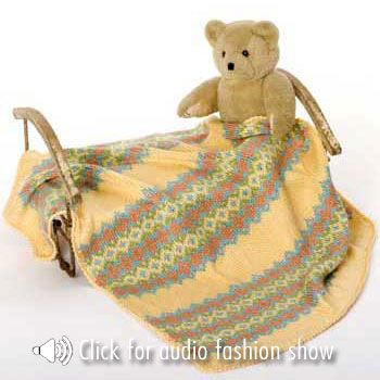 NaturallyCaron.com :: Ku Fair Isle Baby Blanket | Knitting ...