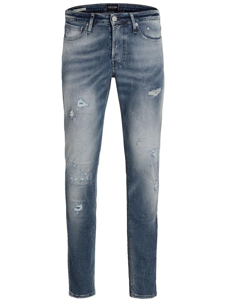 JACK & JONES 'GLENN PAGE BL 795 INDIGO KNIT NOOS Slim Fit' Jeans Herren, Blau, Größe 36 #sweatpantsoutfit