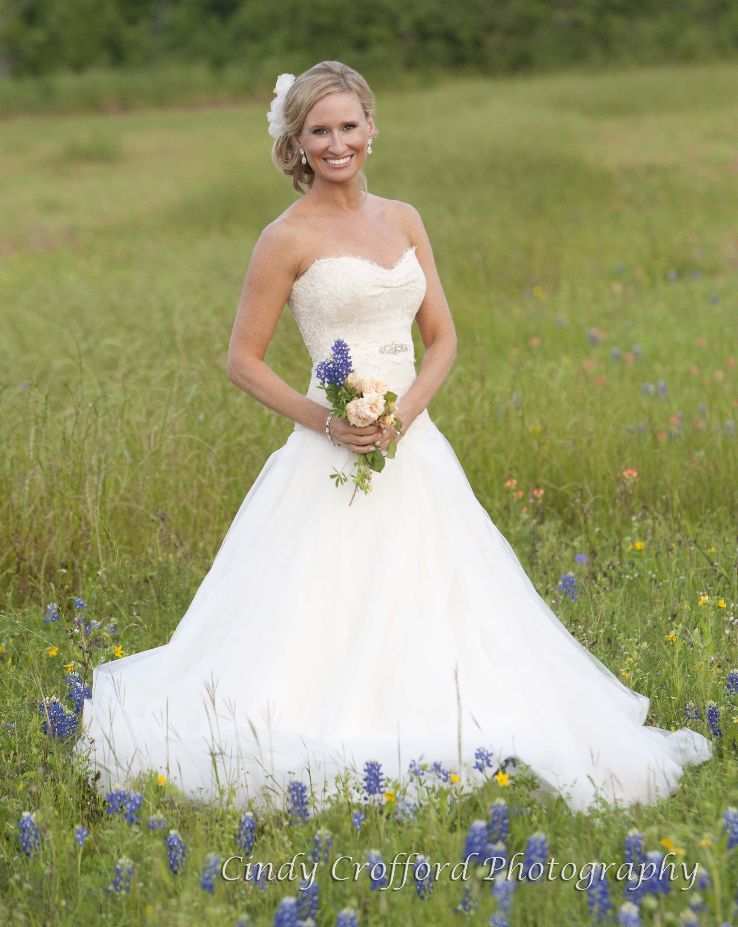 This Bride Flew In To Take Bridal Photos At Our Annual Bluebonnet