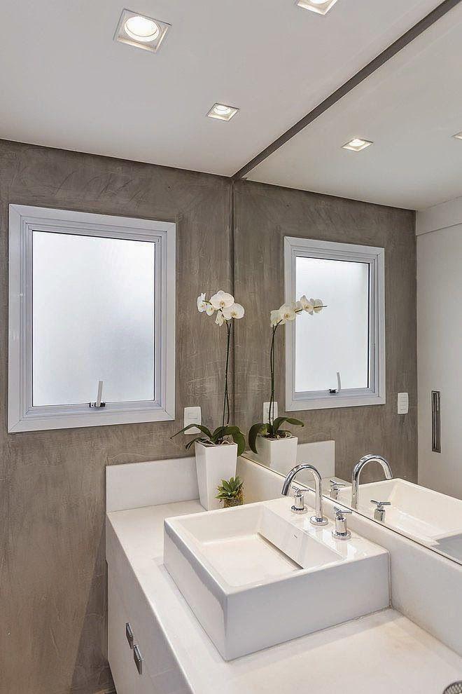 Banheiros e lavabos em cimento queimado  Blog e Ems -> Banheiro Pequeno De Cimento Queimado