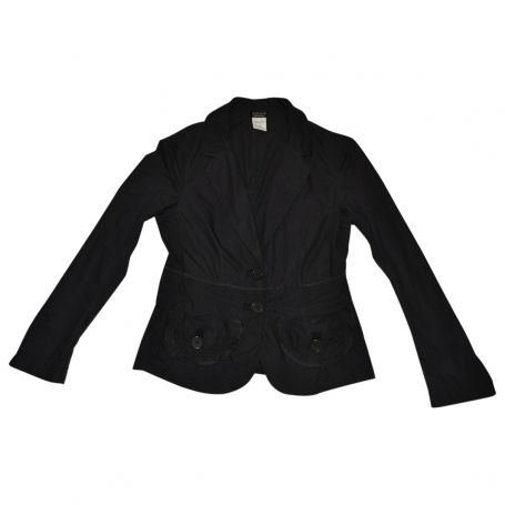 SONIA RYKIEL  100% COTTON  RUFFLE POCKET DETAIL JACKET. Sonia Rykiel jacket Size 38 Like new.