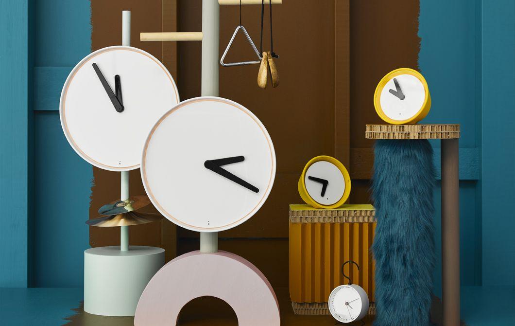 Nouvelles Horloges Murales Et De Table Stolpa イケア 壁掛け時計 置き時計