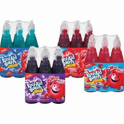 Drink Mondelez International Kraft Juice Kool Aid Bursts Various Flavors Kool Aid Kid Drinks Packaging Template Design