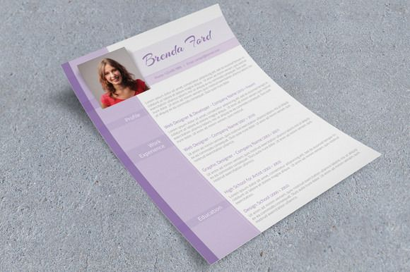 Purple Cv Template Cv Template Creative Resume Templates Resume Templates