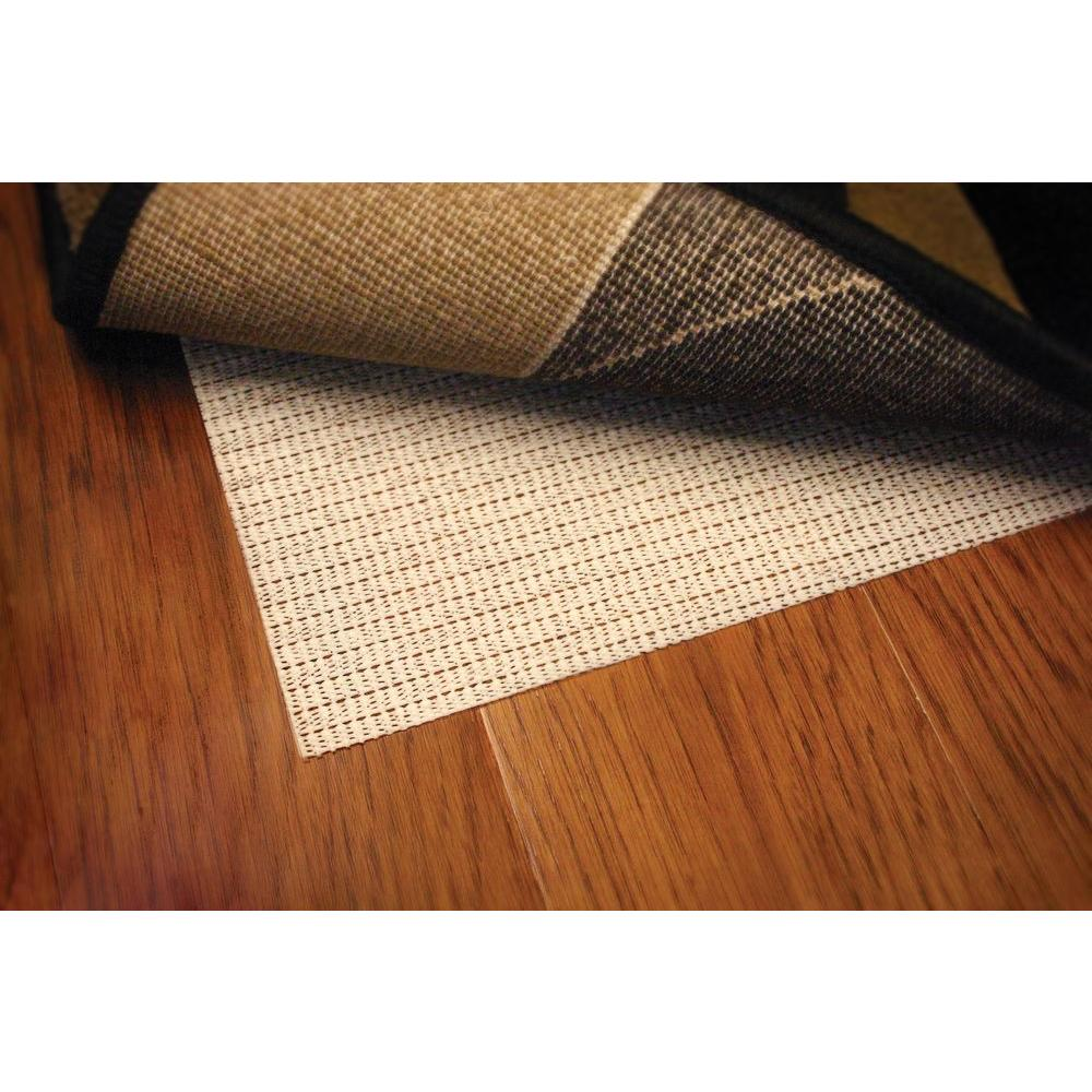 Home Decorators Collection Non Slip Hard Surface Beige 5 Ft X 8 Ft Rug Pad 6579610820 The Home Depot Polyester Rugs Rug Pad Rugs