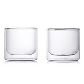 Epare Double Wall Whiskey Glass Set Of 2 Glass Set Wine Glass Set Whiskey Glasses Set