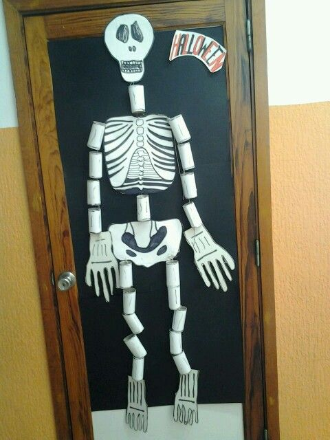 Skeleton Made Of Card And Toilet Paper Rolls With Images Toilet Paper Roll Toilet Paper